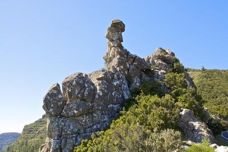 Piled up volcano rock near the hiking on La Gomera