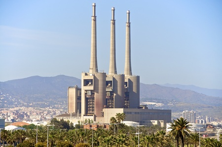 shut down: An industrial plant north of Barcelona, which is a power plant ruins today