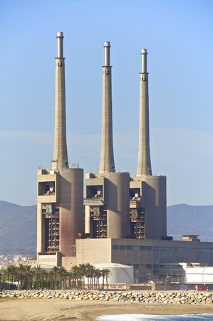 inoperative: An industrial plant north of Barcelona, which is a power plant ruins today