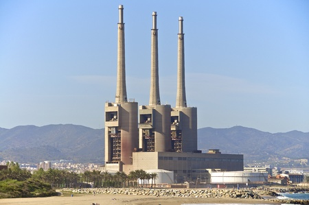 An industrial plant north of Barcelona, which is a power plant ruins today