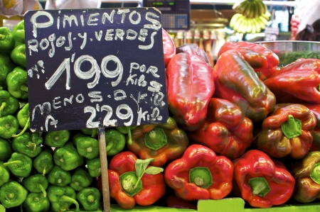 boqueria: Barcelona, La Boqueria  A covered market for fish, meat, vegetables, fruits and foods of all kinds Editorial