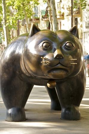 El Gato de Botero  A cat sculpture on the Rambla del Raval in Barcelona