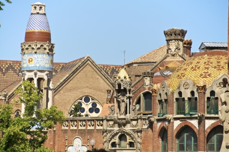 The Hospital de la Santa Creu i Sant Pau is a hospital in Barcelona built in the art nouveau style  The Hospital de la Santa Creu is world cultural heritage of UNESCO