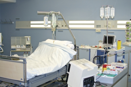 hospital room: A hospital room with medical device