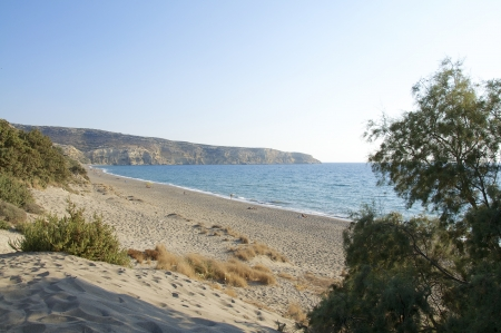 The beach Komos on Crete   The beach is near Matala, Pitsidia and Kalamaki