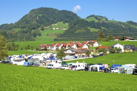 regionally: Paddock in Grossraming on the occasion of the motorcycle revival on the Ennstalring  Formerly, in the 1960s, an international race in Upper Austria