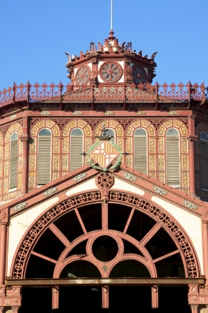 modernisme: Restoration of the market hall of St  Antoni in Barcelona  The market hall is 1882 in the style of modernisme, a special form of Art Nouveau, built