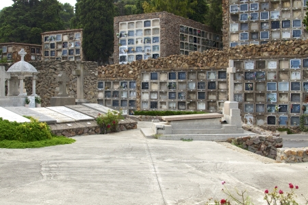 modernisme: Cemetery of artists and Politicians at the foot of Montjuic in Barcelona