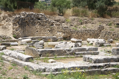 Apollon Temple of Gortyn on Crete  Gortyn was a Minoan settlement in the southwestern part of Crete Stock Photo - 25096910