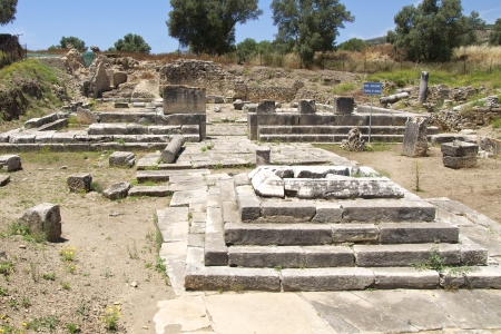 Apollon Temple of Gortyn on Crete  Gortyn was a Minoan settlement in the southwestern part of Crete Stock Photo - 25096911