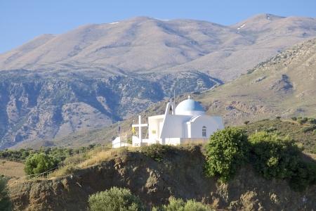 ida: Greek orthodox church in the Ida Mountains on Crete Stock Photo