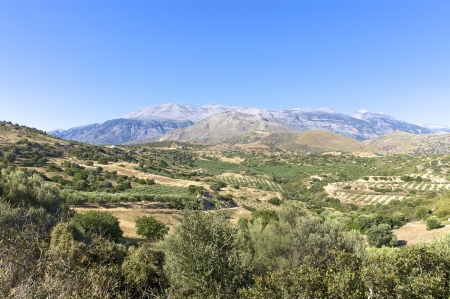 ida: View to the Ida Mountains from the south side of Crete
