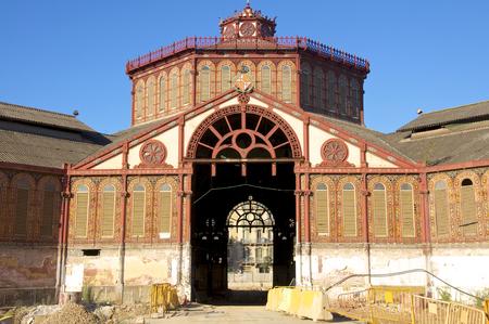 Restoration of the market hall of St  Antoni in Barcelona Stock Photo - 29261794