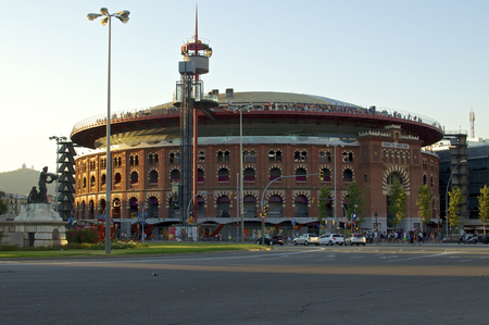location shot: Arenas de Barcelona was a bullring at Plaza d Espanya in Barcelona