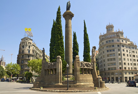 The Plaa Verdaguer is a square in the Eixample district of Barcelona