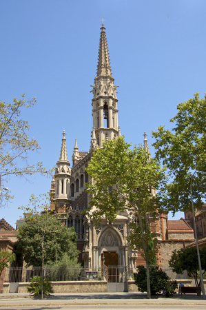 gaud: Church de Les Saleses - Barcelona This church is designed by Joan Martorell i Montells, Antoni Gaud architecture professor