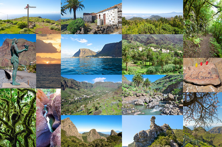 Photo collage of the Iceland of La Gomera with sights, hiking trails and the Valle Gran Rey photo