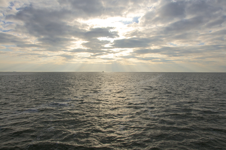 crepuscular: Crepuscular rays in the North Sea. God rays in the Wadden Sea