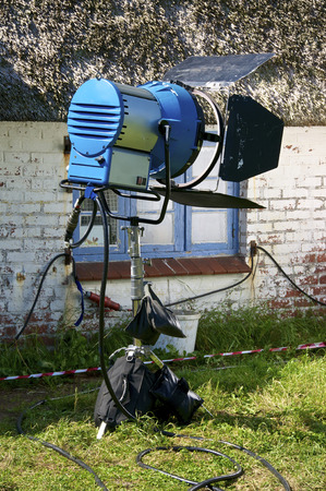 the wadden sea: Film Equipment on the Hallig Langeness in the Wadden Sea