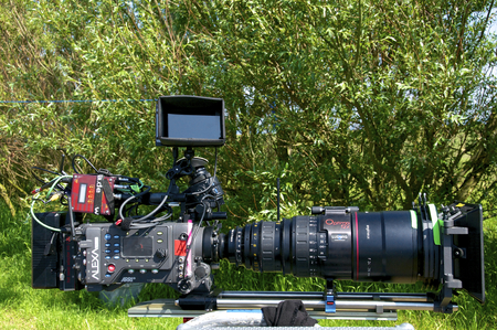 outside shooting: Arri Alexa Movie Camera with Zoom Lens 24-290mm for making Movies