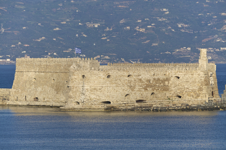 lasted: Venetian Fortress in the port entrance of Heraklion on Crete. The Venetian rule lasted more than 400 years on the island