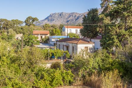 ida: The Village Vizari at the foot of the Ida mountain range on Crete Stock Photo