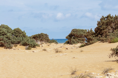 southernmost: Lafrakas is a dreamy beach in the north of Gavdos, Greece. Gavdos is the southernmost Iceland in Europe