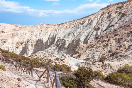 geological formation: Majestic geological clay formation on the way to the Potamos beach on the west side of Gavdos