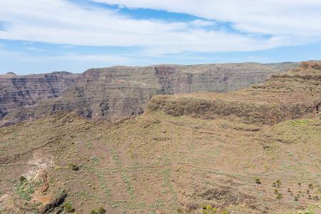 scarp: La Gomera, Canary Islands. View from the Barranco de Argaga to the Valle Gran Rey