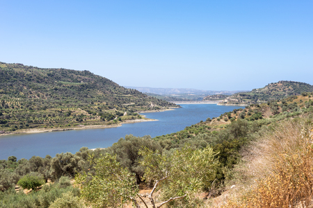 water supply: The Faneromenis reservoir in the south-central of Crete. The Techniti Limni Faneromenis named in greek, is located in the southern foothills of the Ida mountain massif. Important water supply on Crete