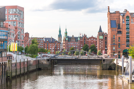 freeport: Hamburg famous warehouse district called Speicherstadt in the former freeport. Today the Speicherstadt is a district of the new Harbor City,