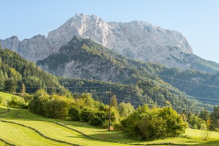 The Grosser Buchstein is a 2224 m high mountain in the Ennstal Alps in Styria. Stock Photo