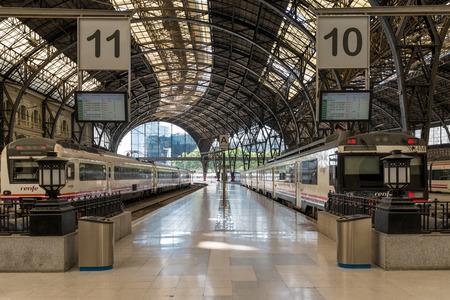 Trains at the Estacio de Franca in Barcelona