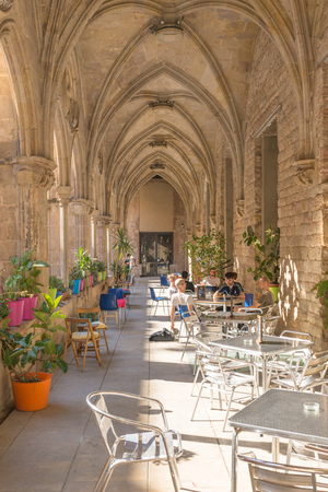 The cafeteria Bar del Convent in the former Cloister of Saint Augustin, in the Barcelona district La Ribera Editorial
