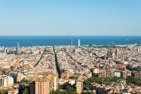 View from the Parc del Guinardo to Barcelona 版權商用圖片