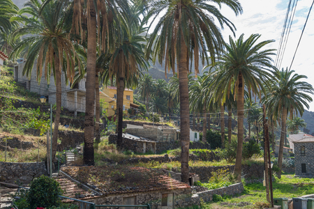 Villages and small towns in Valle Gran Rey on la Gomera