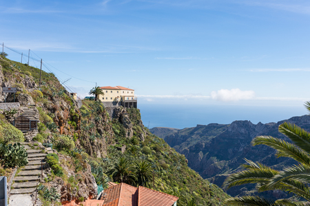 Restaurant and vantage point, the Mirador Degollada de Peraza on the way to San Sebastian de la Gomera
