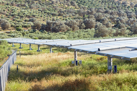 Renewable energy production with solar cells in the south central area of ??Crete.