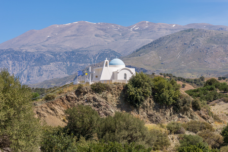 Greek orthodox church in the foothills of the Ida Mountains Banco de Imagens