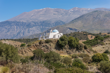 Greek orthodox church in the foothills of the Ida Mountains Imagens