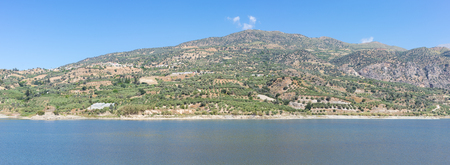 The Faneromenis reservoir in the south-central of Crete
