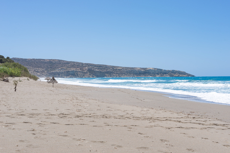 Komos beach in Kalamaki situated in the south-central of Crete.