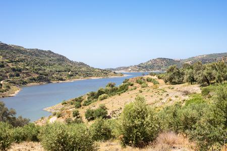 The Faneromenis reservoir in the south-central of Crete. Banco de Imagens
