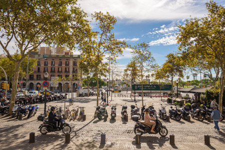 View to the Placa of Antonio Lopez in Barcelona