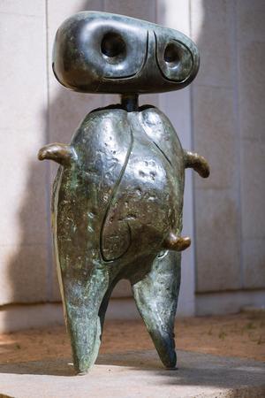 Personage. Joan Miro sculpture Joan Miro on the Montjuic in Barcelona