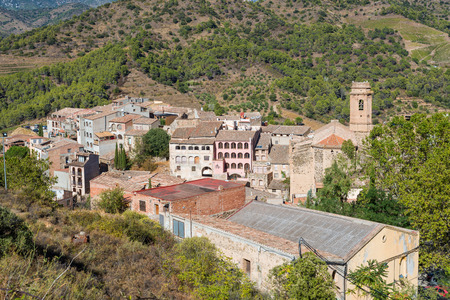 The village Torroja del Priorat, Catalonia, Spain Stock Photo