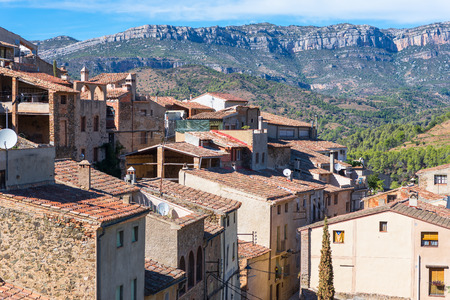 Torroja del Priorat is a small but significant village in the province of Priorat Stock Photo