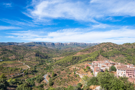 The village Torroja del Priorat. A famous wine growing area where the prestigious wine of Priorat and Montsant is produced Stock Photo