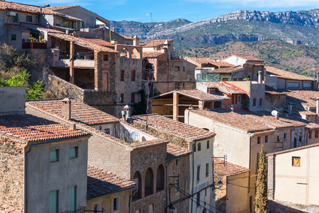 Torroja del Priorat is a small but significant village in the province of Priorat, Stock Photo