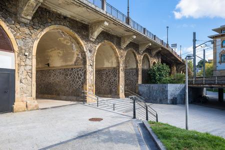 Bridge in the Basque city Donostia San Sebastian